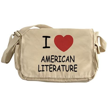 I heart american literature Messenger Bag