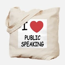 I heart public speaking Tote Bag
