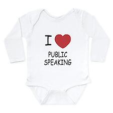 I heart public speaking Long Sleeve Infant Bodysui