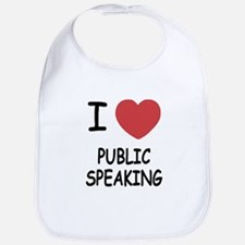 I heart public speaking Bib