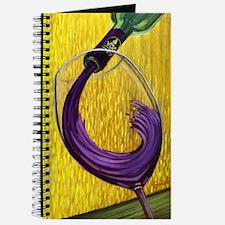 Cute Wineglass Journal