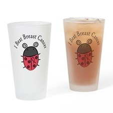 Breast Cancer Awareness Ladyb Drinking Glass