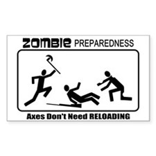 Zombie Prepared AXES Decal