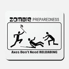 Zombie Prepared AXES Mousepad