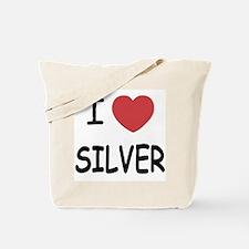 I heart silver Tote Bag