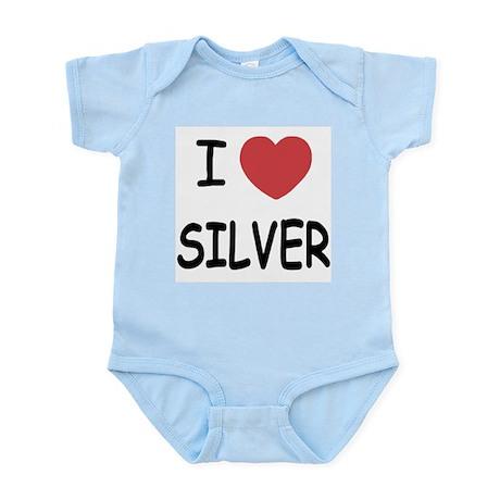 I heart silver Infant Bodysuit