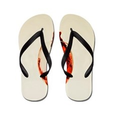 Funny Food and wine Flip Flops