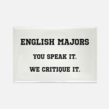 You Speak, We Critique Rectangle Magnet (100 pack)