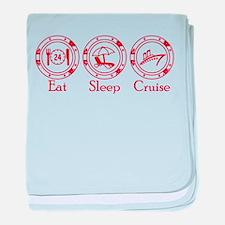 Eat Sleep Cruise baby blanket