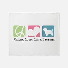 Peace, Love, Cairn Terriers Throw Blanket