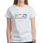 Peace, Love, Cairn Terriers Women's T-Shirt
