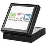 Peace, Love, Cairn Terriers Keepsake Box