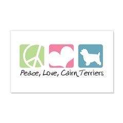 Peace, Love, Cairn Terriers 22x14 Wall Peel