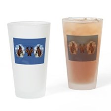 2 Foals Drinking Glass