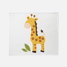 Cute Giraffe Throw Blanket