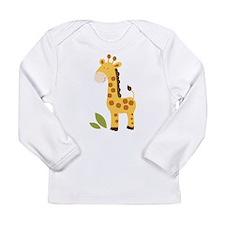 Cute Giraffe Long Sleeve Infant T-Shirt