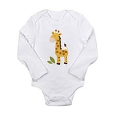 Cute Giraffe Long Sleeve Infant Bodysuit