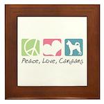 Peace, Love, Canaans Framed Tile