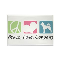 Peace, Love, Canaans Rectangle Magnet