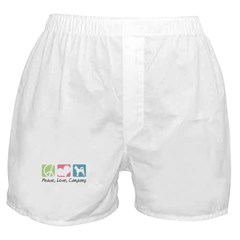 Peace, Love, Canaans Boxer Shorts