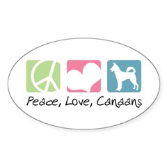 Peace, Love, Canaans Decal