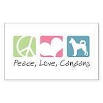 Peace, Love, Canaans Sticker (Rectangle 50 pk)