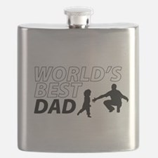 World's Best Dad Awesome Father Day Flask