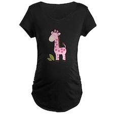 Cute Pink Giraffe T-Shirt