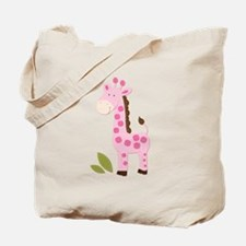Cute Pink Giraffe Tote Bag