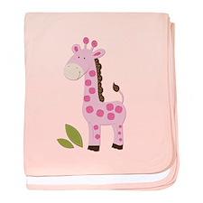 Cute Pink Giraffe baby blanket