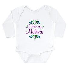 Love My Maltese Long Sleeve Infant Bodysuit