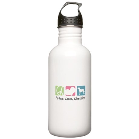 Peace, Love, Chessies Stainless Water Bottle 1.0L