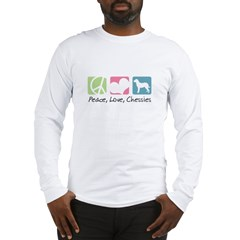 Peace, Love, Chessies Long Sleeve T-Shirt