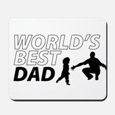 World's Best Dad Awesome Father Day Mousepad