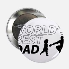 """World's Best Dad Awesome Father Day 2.25"""" Button"""