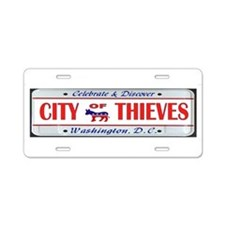 Cute Election thief Aluminum License Plate