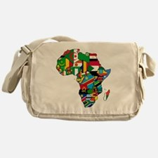 Flags of Africa Messenger Bag