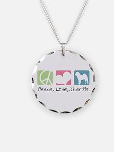 Peace, Love, Shar-Pei Necklace