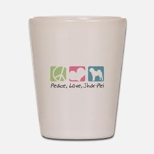 Peace, Love, Shar-Pei Shot Glass