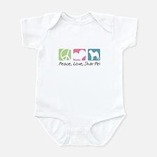 Peace, Love, Shar-Pei Infant Bodysuit