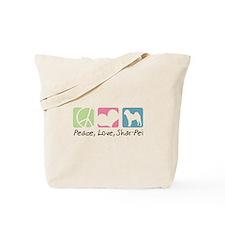 Peace, Love, Shar-Pei Tote Bag