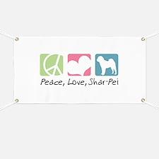 Peace, Love, Shar-Pei Banner