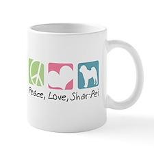 Peace, Love, Shar-Pei Mug