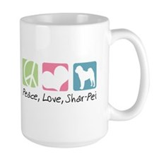 Peace, Love, Shar-Pei Mug