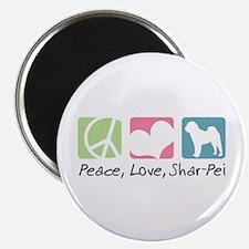 "Peace, Love, Shar-Pei 2.25"" Magnet (10 pack)"