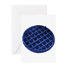 Blue Waffle Greeting Card