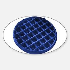Blue Waffle Sticker (Oval)