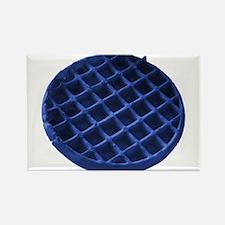 Blue Waffle Rectangle Magnet