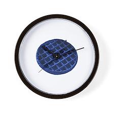 Blue Waffle Wall Clock