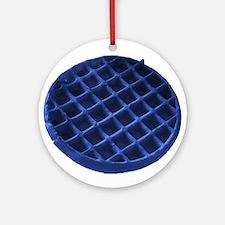 Blue Waffle Ornament (Round)